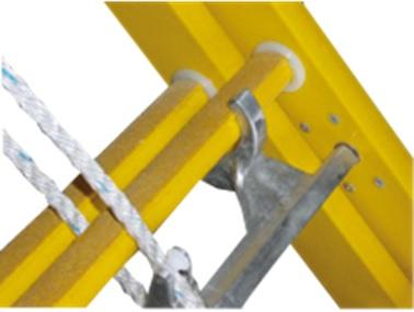LM- Optrekladder 2-delig (kunststof)